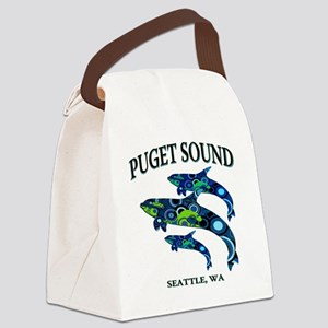 Puget Sound Orcas Canvas Lunch Bag