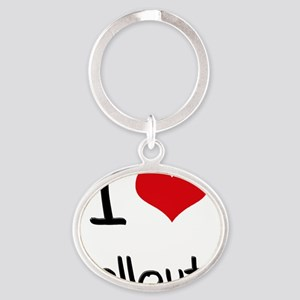I Love Sellouts Oval Keychain