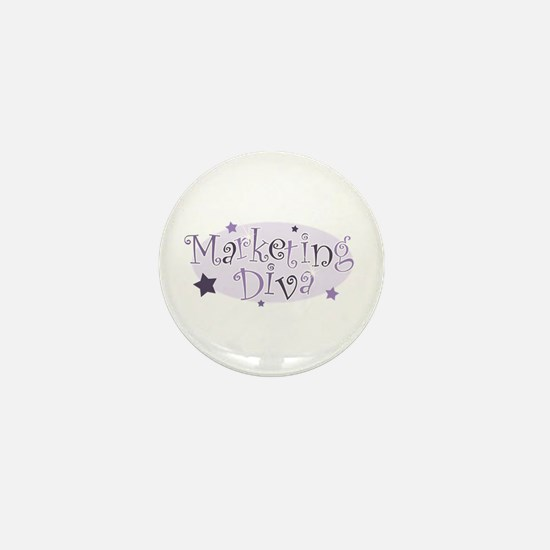 """Marketing Diva"" [purple] Mini Button"