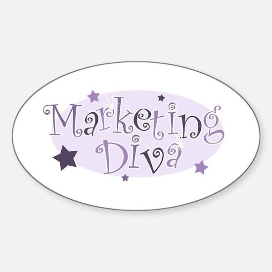 """Marketing Diva"" [purple] Oval Decal"