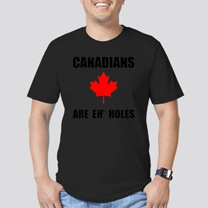 Canadians Eh Holes Men's Fitted T-Shirt (dark)