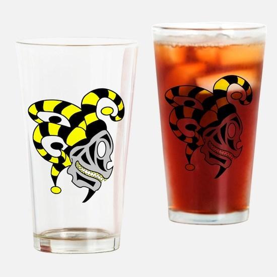 Unique Yellow skull Drinking Glass