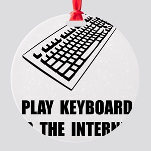 Keyboard Internet Round Ornament