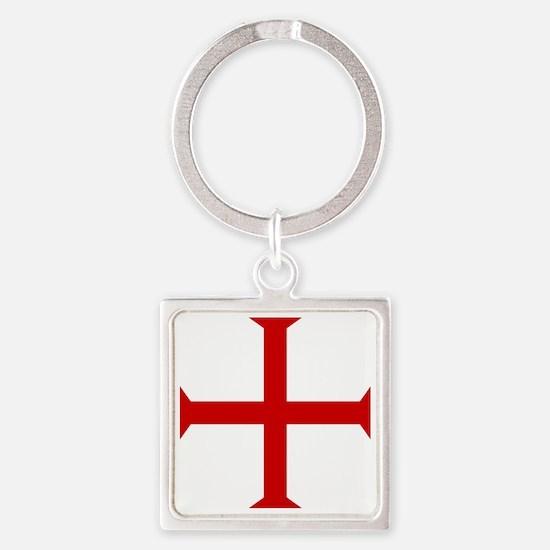 Knights Templar Cross Square Keychain