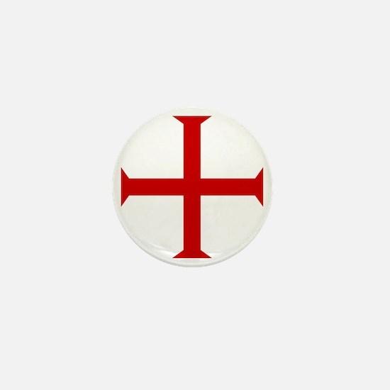 Knights Templar Cross Mini Button