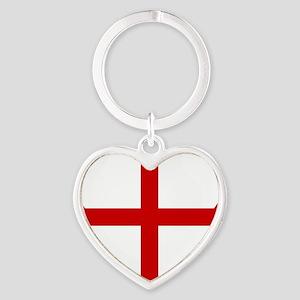 Knights Templar Cross Heart Keychain