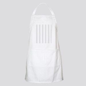 Grey and white vertical stripes Apron
