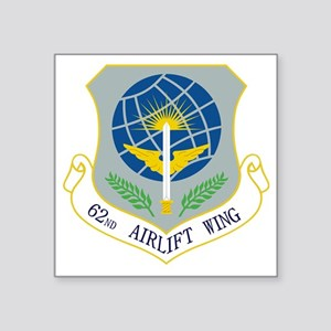 """62nd Airlift Wing Square Sticker 3"""" x 3"""""""