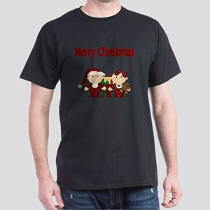 Merry Christmas with Twins Dark T-Shirt