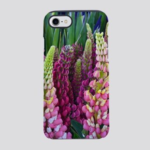 Pink and purple lupin flowers iPhone 7 Tough Case
