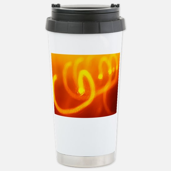 Light trails abstract Stainless Steel Travel Mug