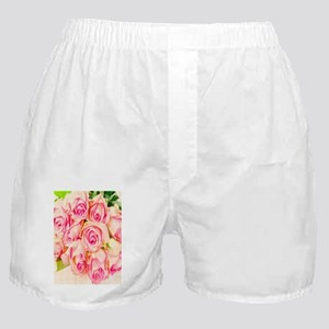Vintage Hybrid Tea Roses Boxer Shorts