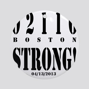Boston Strong! Round Ornament