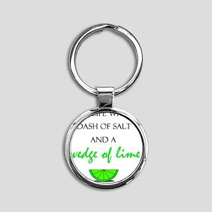 Salt and Lime Round Keychain