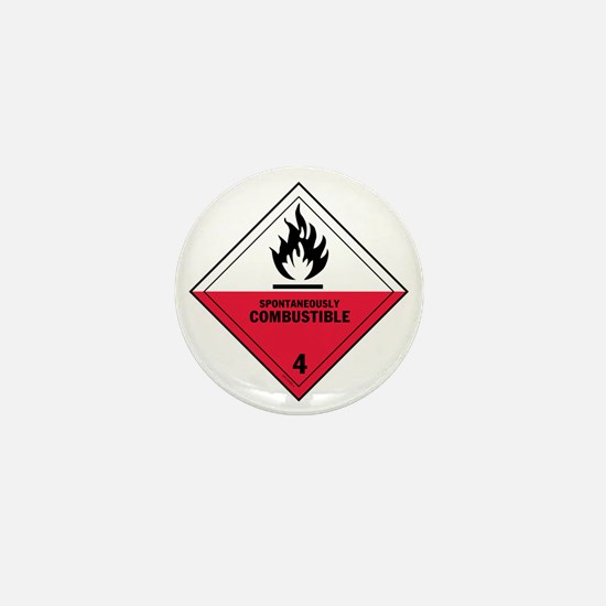 D.O.T.-Spontaneously-Combustible-Label Mini Button