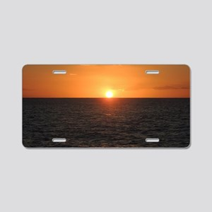 Sunset from the Lord Sheffi Aluminum License Plate