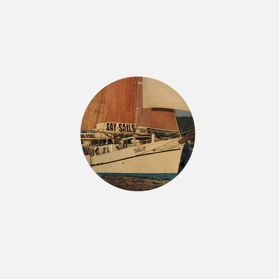 Schooner Passat under sail Mini Button