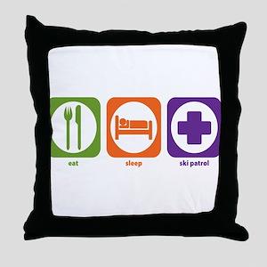 Eat Sleep Ski Patrol Throw Pillow