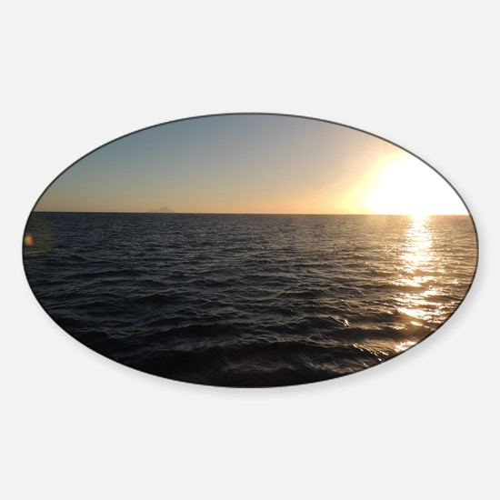 Sunset Clear Night from the Lord Sh Sticker (Oval)