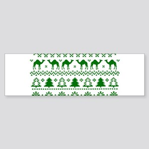 Christmas Hump Day Camel Ugly Sweater Bumper Stick