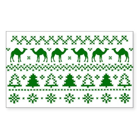 Christmas Hump Day Camel Ugly Sweater Sticker