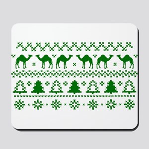 Christmas Hump Day Camel Ugly Sweater Mousepad