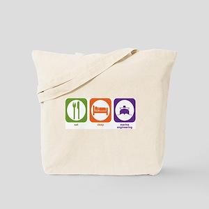 Eat Sleep Marine Engineering Tote Bag