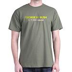 Bush - Shit for Brains Military Green Tee