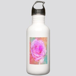 Shimmering Pink Rose Stainless Water Bottle 1.0L