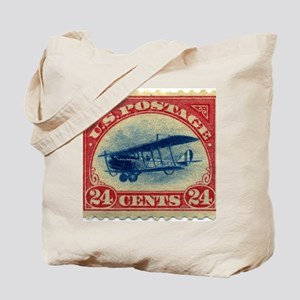 Curtiss Jenny 1918 24c US stamp Tote Bag