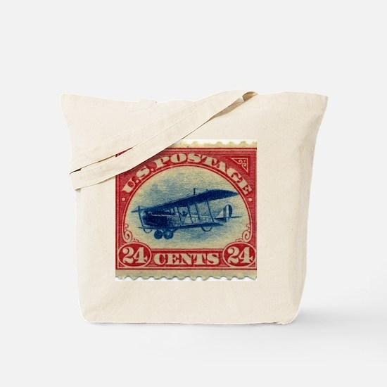 Curtiss Jenny 1918 24c US stamp Tote Bag