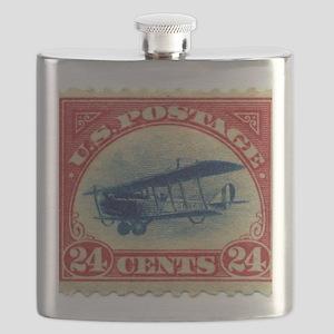 Curtiss Jenny 1918 24c US stamp Flask