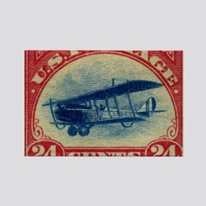 Curtiss Jenny 1918 24c US stamp Rectangle Magnet