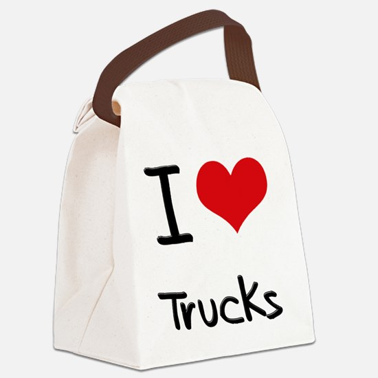 I Love Trucks Canvas Lunch Bag