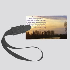 praise the lord river sunset Large Luggage Tag
