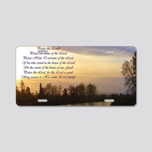 praise the lord river sunse Aluminum License Plate