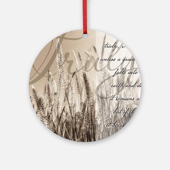 Grain of wheat Round Ornament