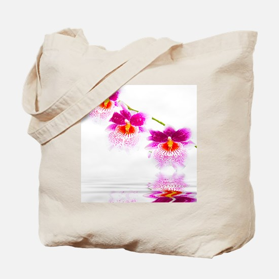 Three Oncidium Pink and White Orchids Tote Bag