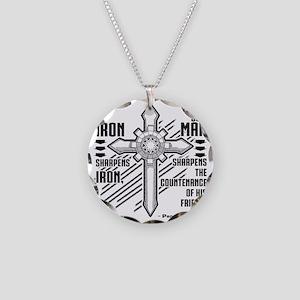 Iron Sharpens Iron Necklace Circle Charm