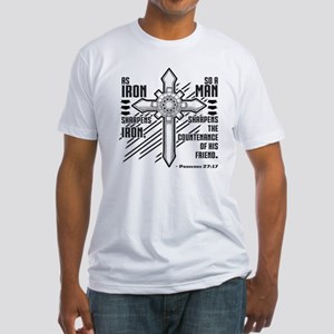 Iron Sharpens Iron Fitted T-Shirt