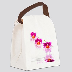 Three Oncidium Pink and White Orc Canvas Lunch Bag