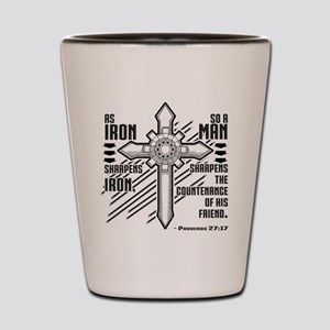 Iron Sharpens Iron Shot Glass