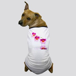 Three Oncidium Pink and White Orchids Dog T-Shirt