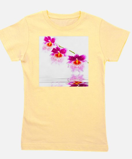 Three Oncidium Pink and White Orchids Girl's Tee