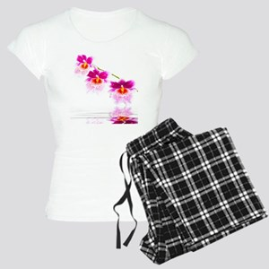 Three Oncidium Pink and Whi Women's Light Pajamas