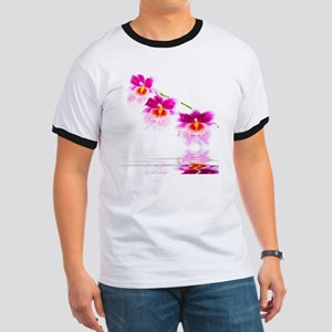 Three Oncidium Pink and White Orchids Ringer T