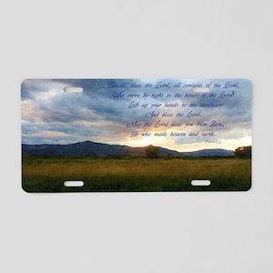 psalm 134 Aluminum License Plate