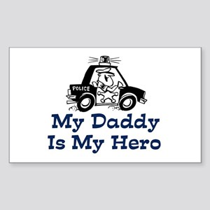 My Daddy Is My Hero (Policema Sticker (Rectangular