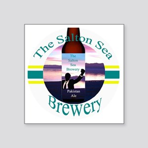 "The Salton Sea brewery logo Square Sticker 3"" x 3"""