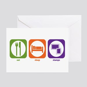 Eat Sleep Stamps Greeting Cards (Pk of 10)